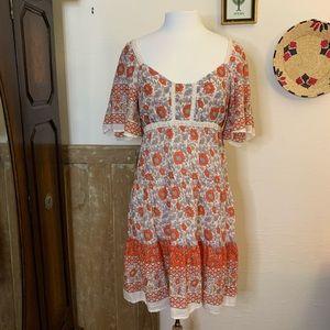Eloise for Anthropologie cotton prairie dress